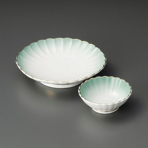 21017-280 ヒスイ菊形呑水|業務用食器カタログ陶里30号