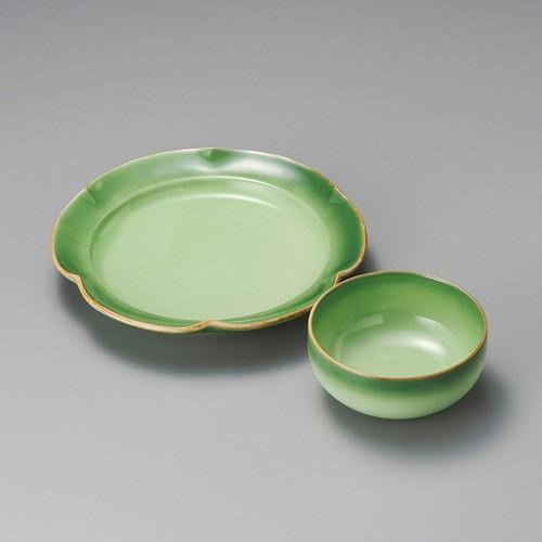 21018-320 緑彩天皿|業務用食器カタログ陶里30号