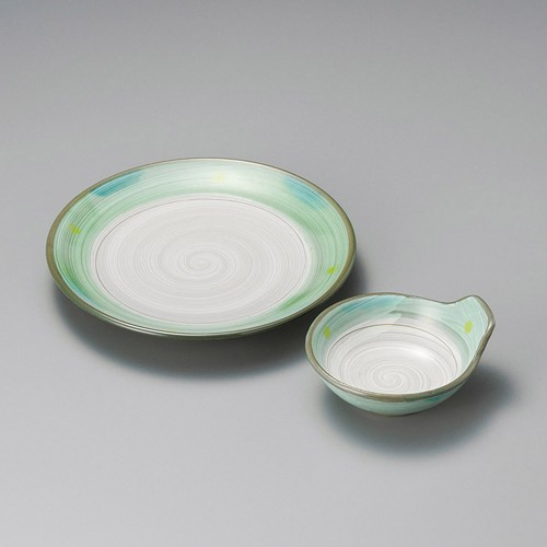 21210-180 新緑(土物)丸7.0皿|業務用食器カタログ陶里30号