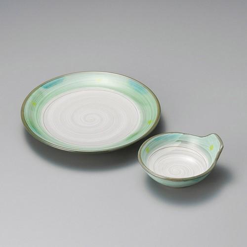 21211-180 新緑(土物)呑水|業務用食器カタログ陶里30号