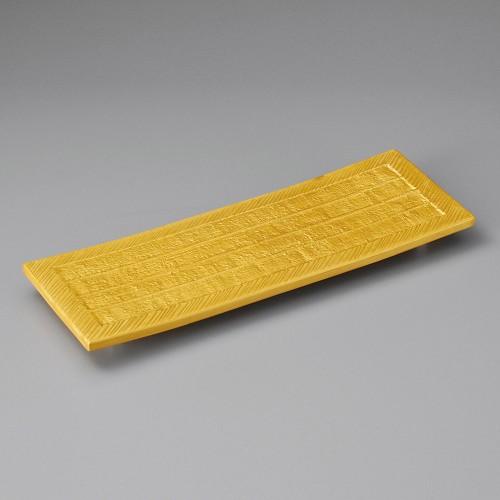 21711-180 ゴールド長角皿|業務用食器カタログ陶里30号