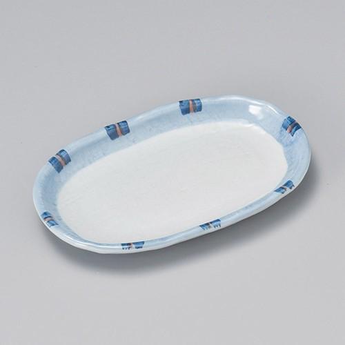 22913-050 はなやぎ6.5小判皿|業務用食器カタログ陶里30号