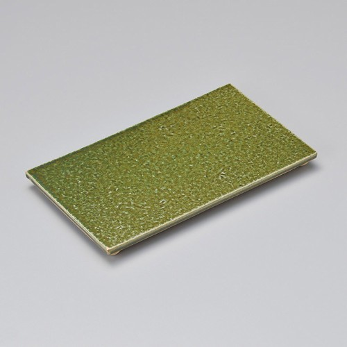 23208-120 サビ織部四足長角皿(中)|業務用食器カタログ陶里30号
