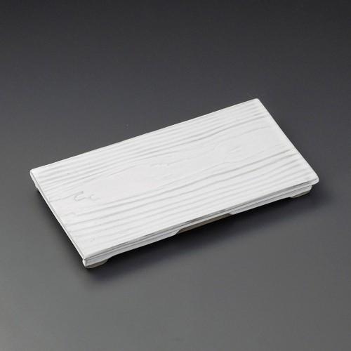 23210-250 白釉木目まな板皿|業務用食器カタログ陶里30号