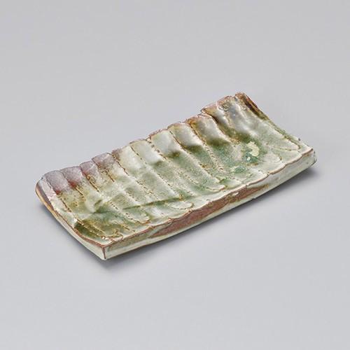 23302-430 ビードロ鎬8.0長角皿|業務用食器カタログ陶里30号