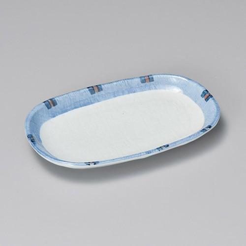 24022-050 はなやぎ8.0小判皿 業務用食器カタログ陶里30号