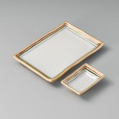 25004-410 錦古代長角小皿|業務用食器カタログ陶里30号