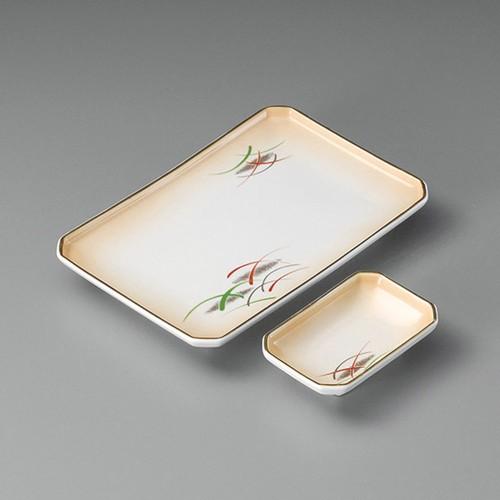 25005-080 加茂川四ツ切8.0焼物皿|業務用食器カタログ陶里30号