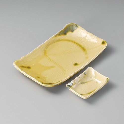 25019-410 キゼト手描長角7.0皿|業務用食器カタログ陶里30号