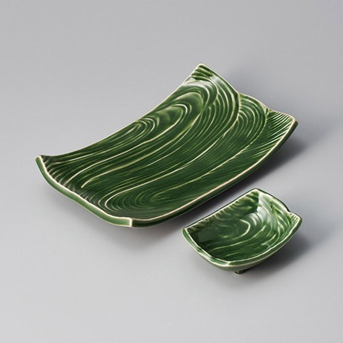 25021-310 練り抹茶流水型8.0長角皿|業務用食器カタログ陶里30号