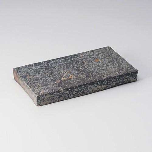 25401-430 黒窯変金ちらし7.6長角皿|業務用食器カタログ陶里30号