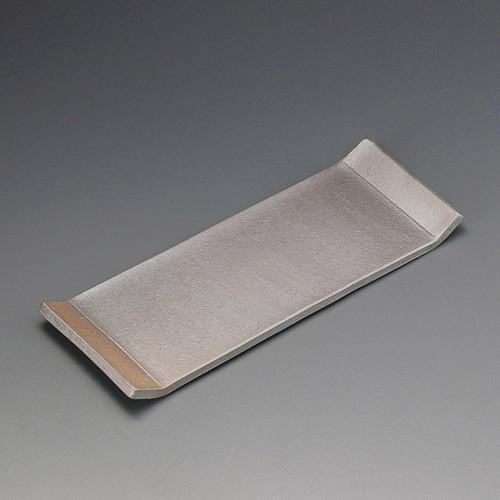 25408-080 炭化スクエアー長角30プレート|業務用食器カタログ陶里30号
