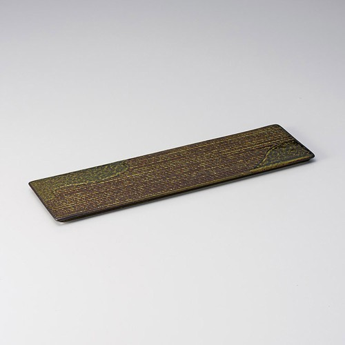 25413-210 苔山水34cm細平長角皿|業務用食器カタログ陶里30号