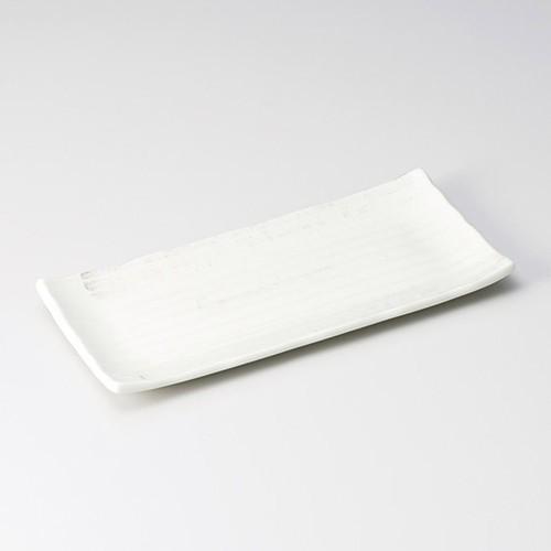 26007-300 粉引風車サンマ皿|業務用食器カタログ陶里30号