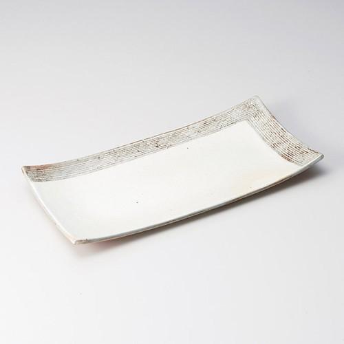 26202-430 渕荒L彫長方皿|業務用食器カタログ陶里30号