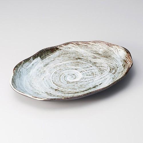 26204-170 白刷毛均窯小判皿(大)|業務用食器カタログ陶里30号