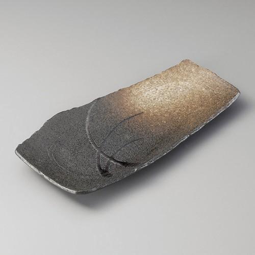 26302-050 金彩すすき長皿|業務用食器カタログ陶里30号