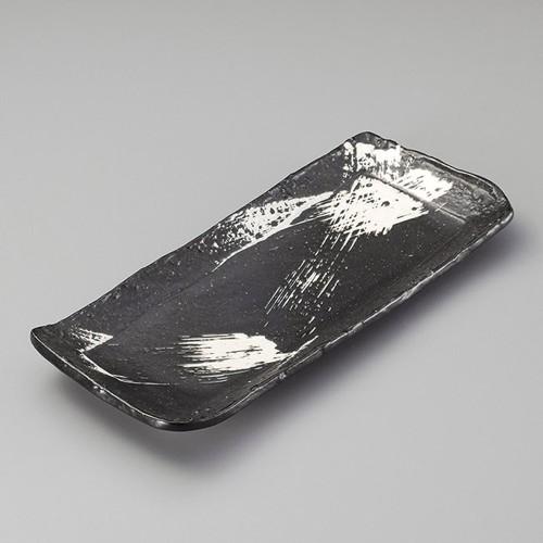 26305-160 白刷毛11.0長皿|業務用食器カタログ陶里30号