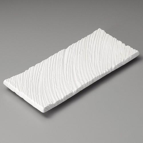 26306-070 強化白釉しのぎ長角尺皿|業務用食器カタログ陶里30号