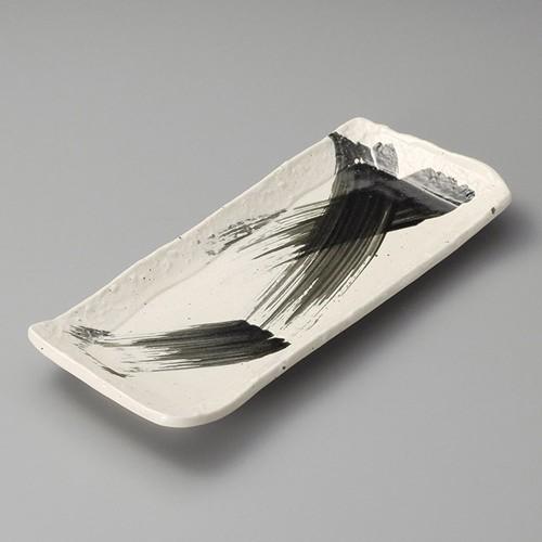 26309-160 黒刷毛11.0長皿|業務用食器カタログ陶里30号