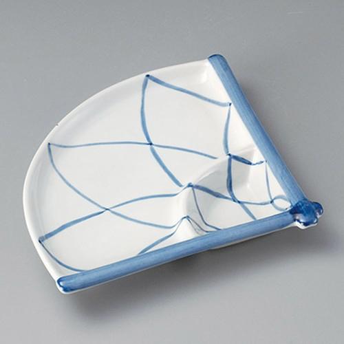 26402-410 アミ絵扇面仕切皿|業務用食器カタログ陶里30号