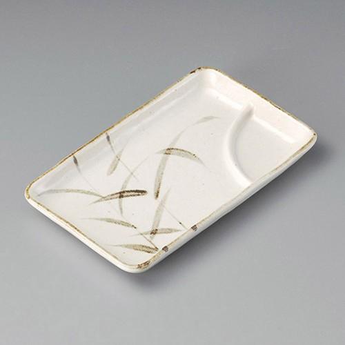 26409-410 紅志野アシ7.0長角仕切皿|業務用食器カタログ陶里30号