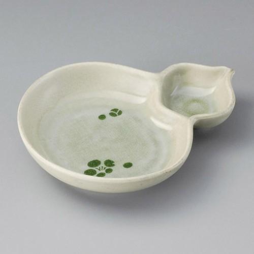 26413-020 梅ビードロひさご仕切鉢|業務用食器カタログ陶里30号