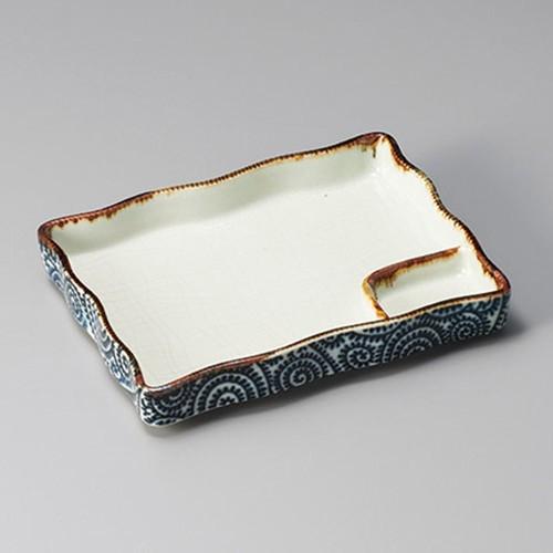 26416-170 タコ唐草長角仕切皿大|業務用食器カタログ陶里30号