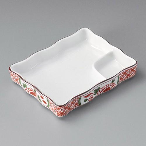 26505-170 赤絵祥瑞波型仕切皿|業務用食器カタログ陶里30号