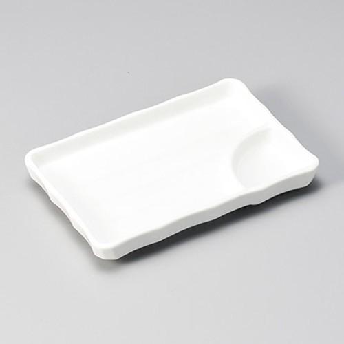 26508-460 白磁7.0長角仕切皿|業務用食器カタログ陶里30号