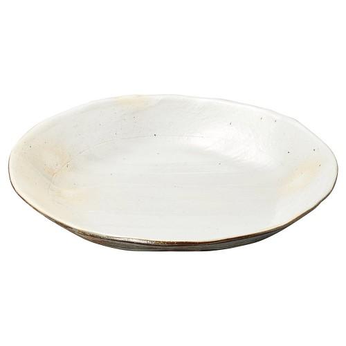 26801-430 荒土しのぎ手12.0大皿|業務用食器カタログ陶里30号