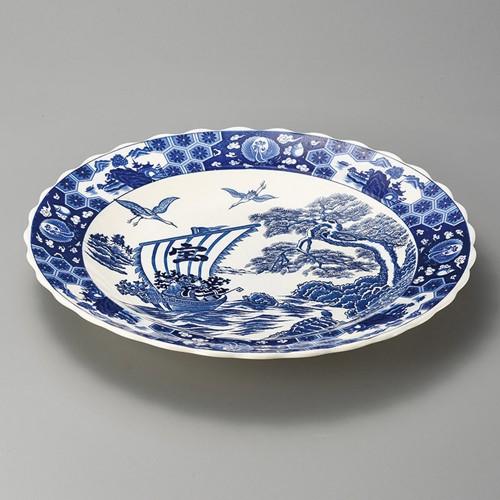 27403-480 宝舟13.0雪輪皿|業務用食器カタログ陶里30号