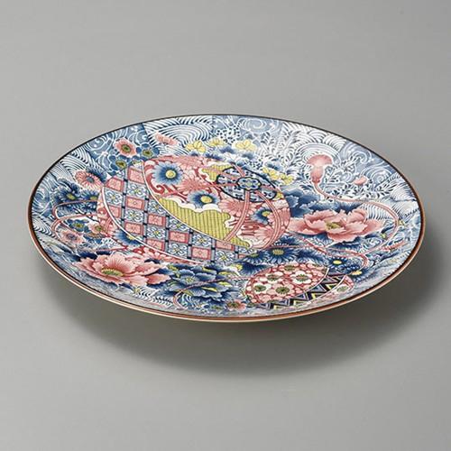 27406-350 手まり牡丹12.0大皿|業務用食器カタログ陶里30号