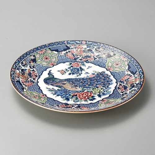 27411-350 孔雀10.0皿|業務用食器カタログ陶里30号
