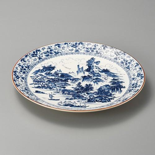 27417-480 新山水13.0丸皿|業務用食器カタログ陶里30号