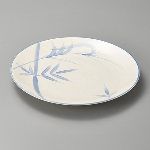 27420-480 ブル-笹13.0丸皿|業務用食器カタログ陶里30号