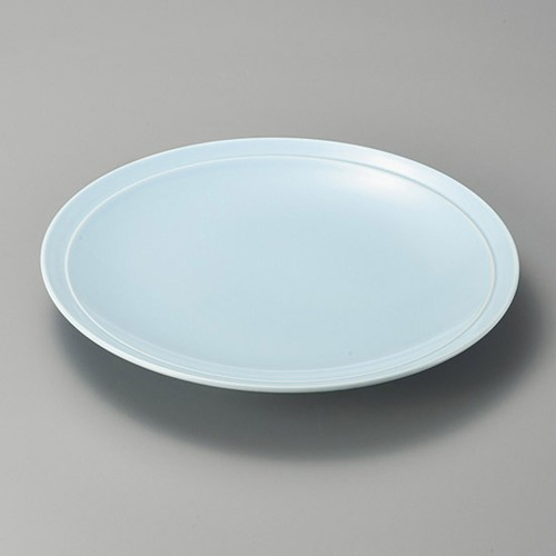 27421-480 青地10.0高台皿|業務用食器カタログ陶里30号