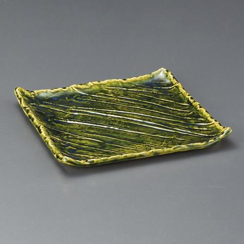 31007-050 オリベ角盛皿|業務用食器カタログ陶里30号