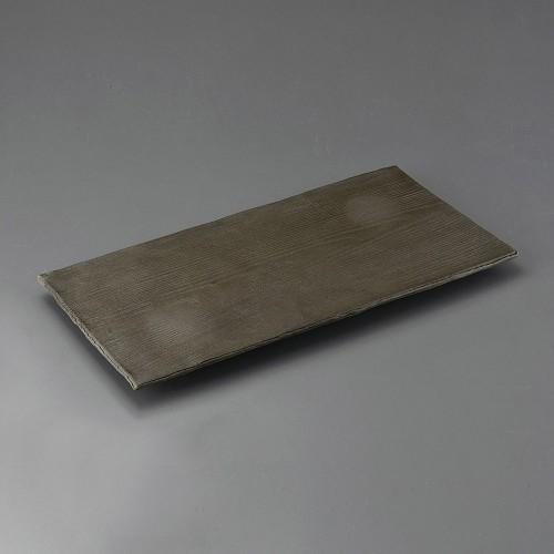 32406-160 炭化土木目尺7足付盛込皿|業務用食器カタログ陶里30号