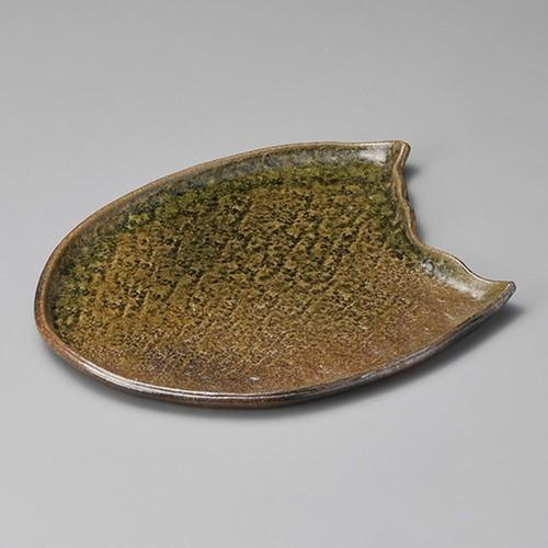 32501-430 ビードロ11.6変形大皿|業務用食器カタログ陶里30号
