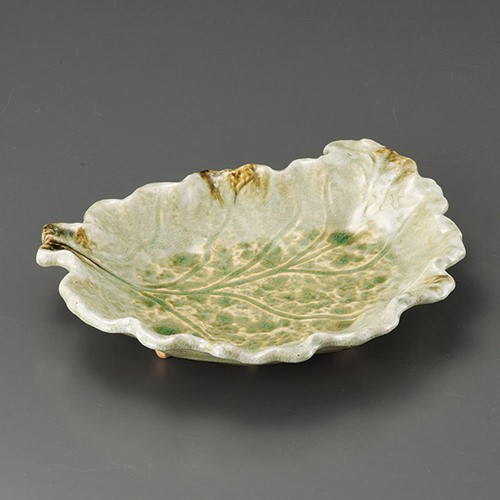 32507-350 鉄釉ビードロ大浅皿|業務用食器カタログ陶里30号