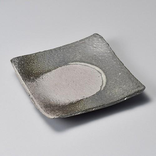 34002-430 黒窯変ビードロ4.3角皿|業務用食器カタログ陶里30号