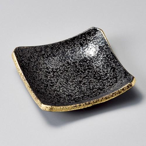 34008-460 黒ちらし口金4.0正角皿|業務用食器カタログ陶里30号