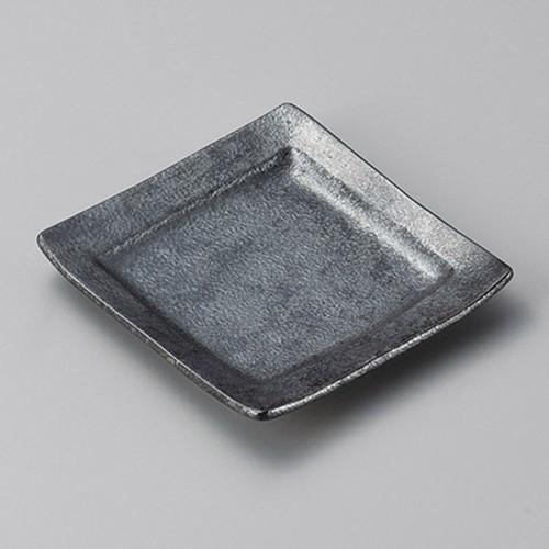34014-100 銀黒回角銘々皿|業務用食器カタログ陶里30号