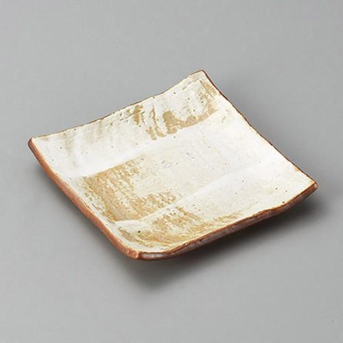 34019-310 白油滴刷毛正角銘々皿|業務用食器カタログ陶里30号