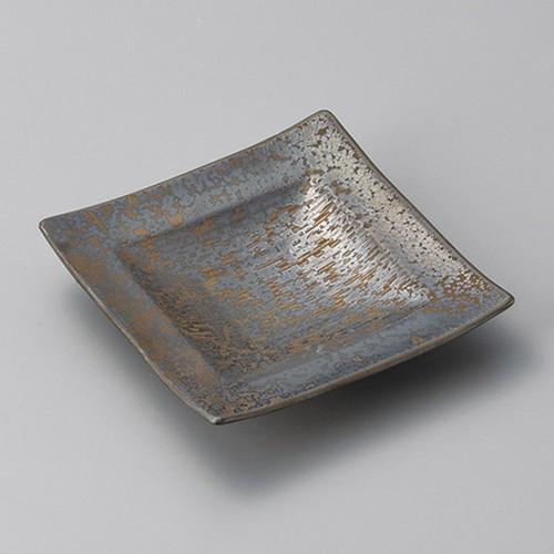 34020-080 金結晶千段角皿小|業務用食器カタログ陶里30号