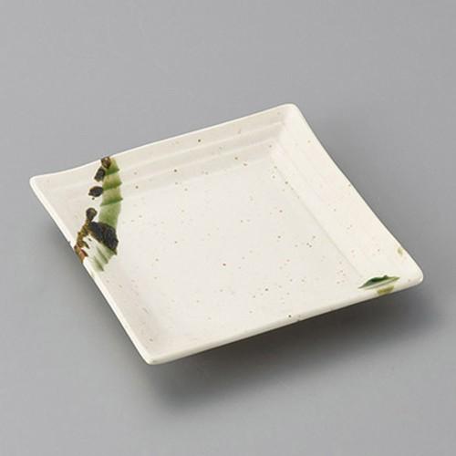 34103-310 黒オリベ流し段々銘々皿|業務用食器カタログ陶里30号