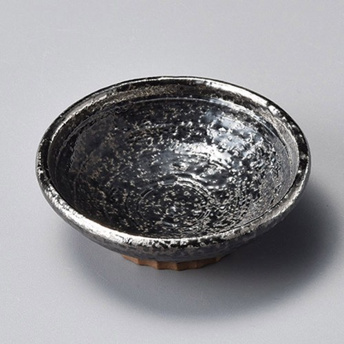 34405-460 黒ちらし渕銀巻2.8丸浅鉢|業務用食器カタログ陶里30号
