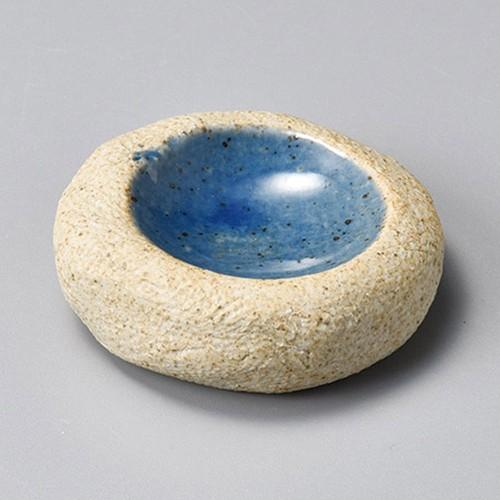 34409-460 手造石焼内紺釉(厚口)丸小皿|業務用食器カタログ陶里30号