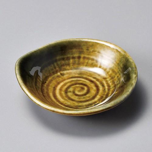 34420-320 黄瀬戸変形3.3皿|業務用食器カタログ陶里30号